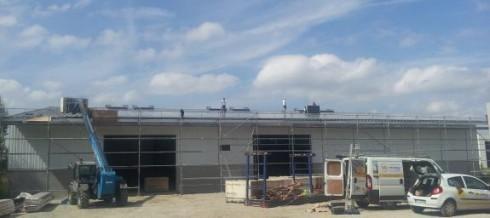 chantier photovoltaïque SB ENERGY